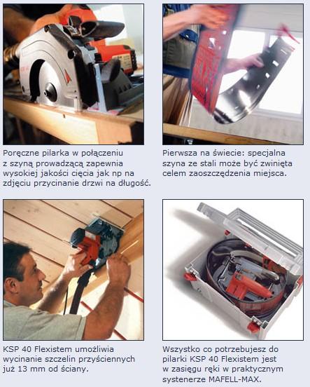 pilarka tarczowa mafell ksp 40 flexistem maszyny stolarskie do obr bki drewna i metalu. Black Bedroom Furniture Sets. Home Design Ideas